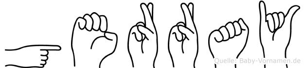 Gerray im Fingeralphabet der Deutschen Gebärdensprache