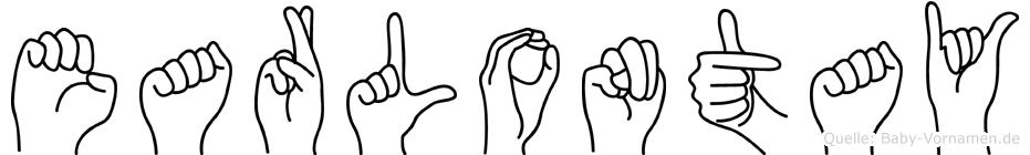 Earlontay im Fingeralphabet der Deutschen Gebärdensprache