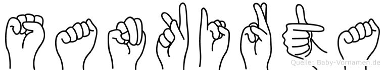 Sankirta im Fingeralphabet der Deutschen Gebärdensprache