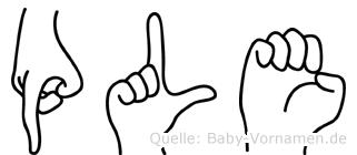 Ple in Fingersprache für Gehörlose