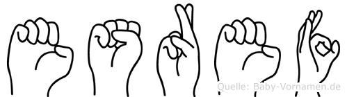 Esref im Fingeralphabet der Deutschen Gebärdensprache