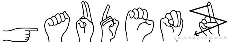 Gaudenz in Fingersprache für Gehörlose