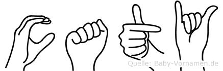 Caty in Fingersprache für Gehörlose