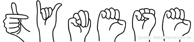 Tynese im Fingeralphabet der Deutschen Gebärdensprache