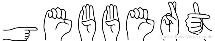 Gebbert in Fingersprache für Gehörlose