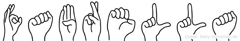 Fabrella in Fingersprache für Gehörlose