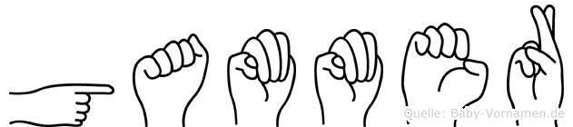 Gammer in Fingersprache für Gehörlose