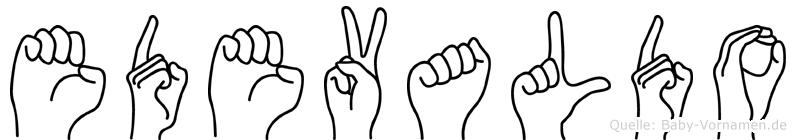 Edevaldo in Fingersprache für Gehörlose