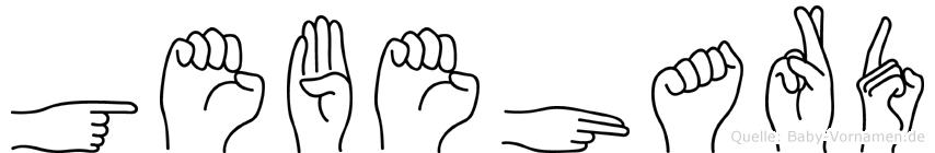 Gebehard im Fingeralphabet der Deutschen Gebärdensprache