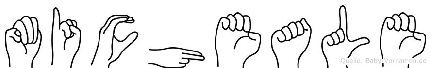 Micheale in Fingersprache für Gehörlose