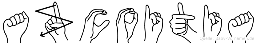 Azcoitia in Fingersprache für Gehörlose