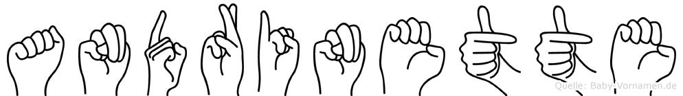 Andrinette im Fingeralphabet der Deutschen Gebärdensprache