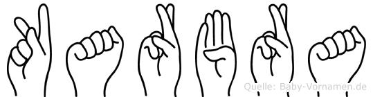Karbra in Fingersprache für Gehörlose