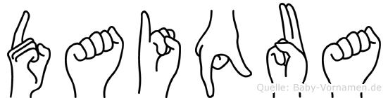 Daiqua in Fingersprache für Gehörlose