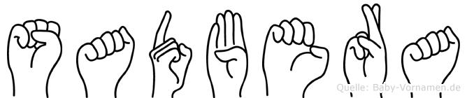 Sadbera in Fingersprache für Gehörlose