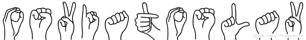 Osviatoslav in Fingersprache für Gehörlose