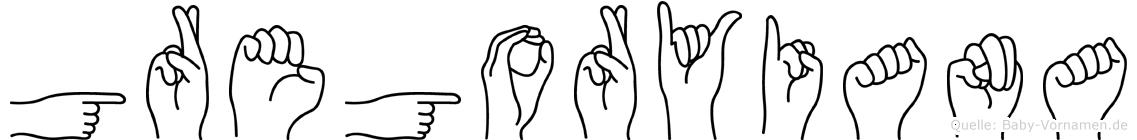 Gregoryiana in Fingersprache für Gehörlose