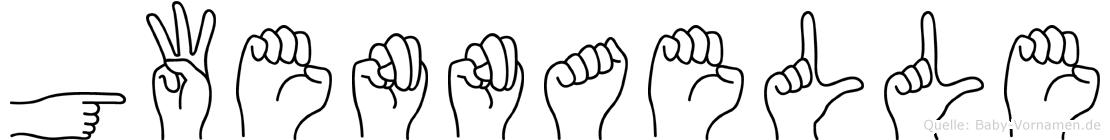 Gwennaelle im Fingeralphabet der Deutschen Gebärdensprache