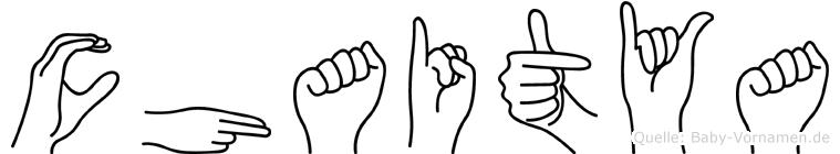 Chaitya im Fingeralphabet der Deutschen Gebärdensprache
