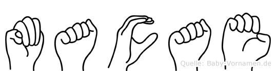 Macae in Fingersprache für Gehörlose