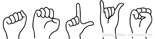 Aelys im Fingeralphabet der Deutschen Gebärdensprache
