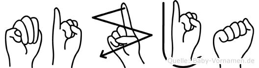 Mizja in Fingersprache für Gehörlose