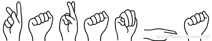 Karamha in Fingersprache für Gehörlose