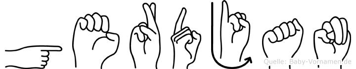 Gerdjan in Fingersprache für Gehörlose