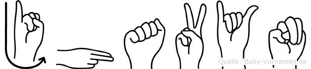 Jhavyn in Fingersprache für Gehörlose