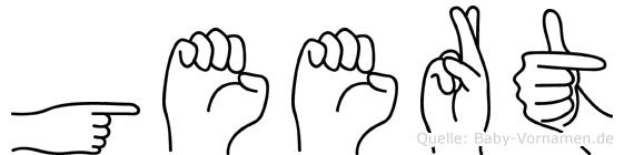 Geert in Fingersprache für Gehörlose