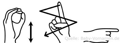 Özgü in Fingersprache für Gehörlose