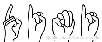 Dini in Fingersprache für Gehörlose