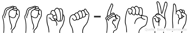 Oona-Devi im Fingeralphabet der Deutschen Gebärdensprache