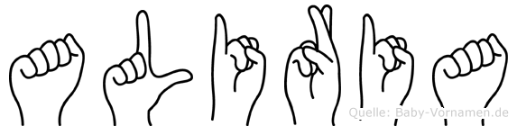 Aliria in Fingersprache für Gehörlose
