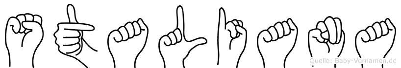 Staliana in Fingersprache für Gehörlose