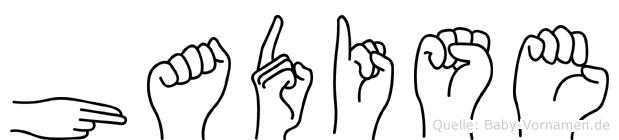Hadise im Fingeralphabet der Deutschen Gebärdensprache