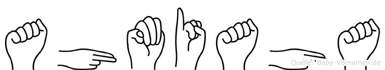 Ahmiaha im Fingeralphabet der Deutschen Gebärdensprache
