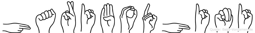 Haribodhini im Fingeralphabet der Deutschen Gebärdensprache