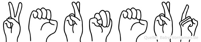 Vernerd im Fingeralphabet der Deutschen Gebärdensprache