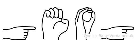Geog in Fingersprache für Gehörlose