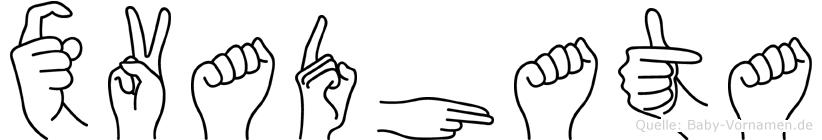 Xvadhata in Fingersprache für Gehörlose