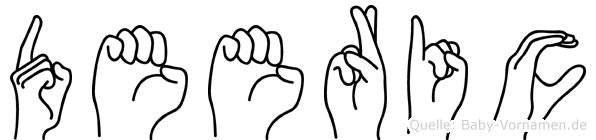 Deeric in Fingersprache für Gehörlose