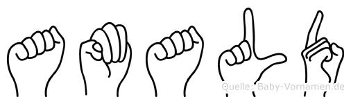 Amald in Fingersprache für Gehörlose