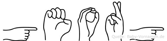 Georg in Fingersprache für Gehörlose
