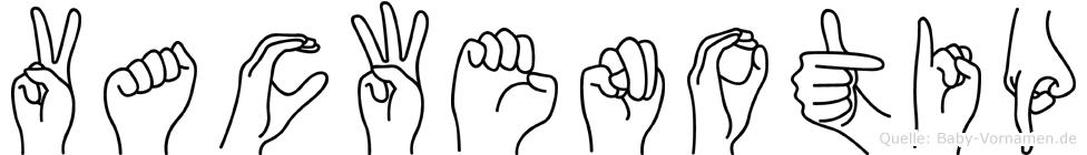 Vacwenotip in Fingersprache für Gehörlose