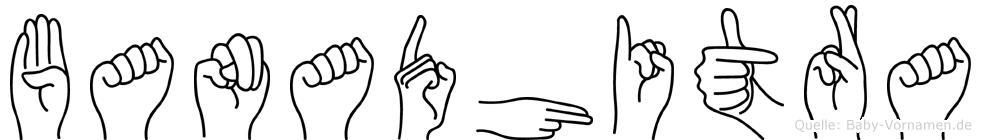 Banadhitra im Fingeralphabet der Deutschen Gebärdensprache