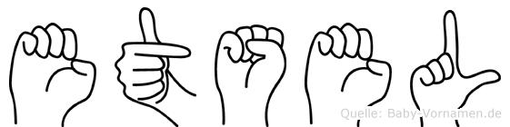 Etsel in Fingersprache für Gehörlose