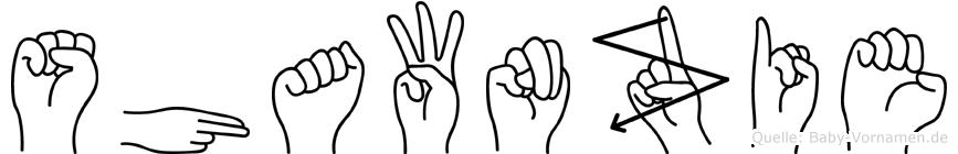 Shawnzie in Fingersprache für Gehörlose