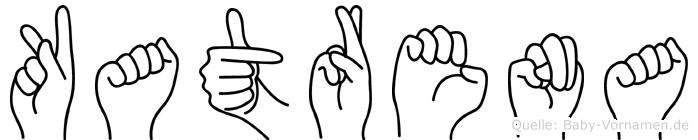Katrena im Fingeralphabet der Deutschen Gebärdensprache
