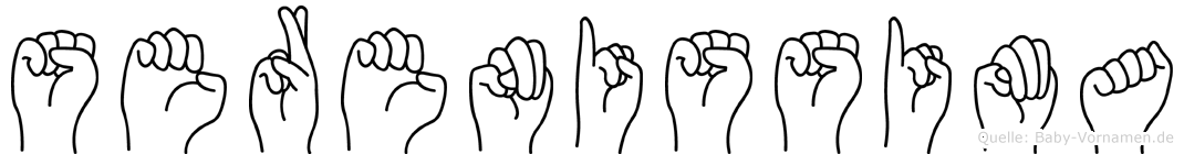 Serenissima in Fingersprache für Gehörlose